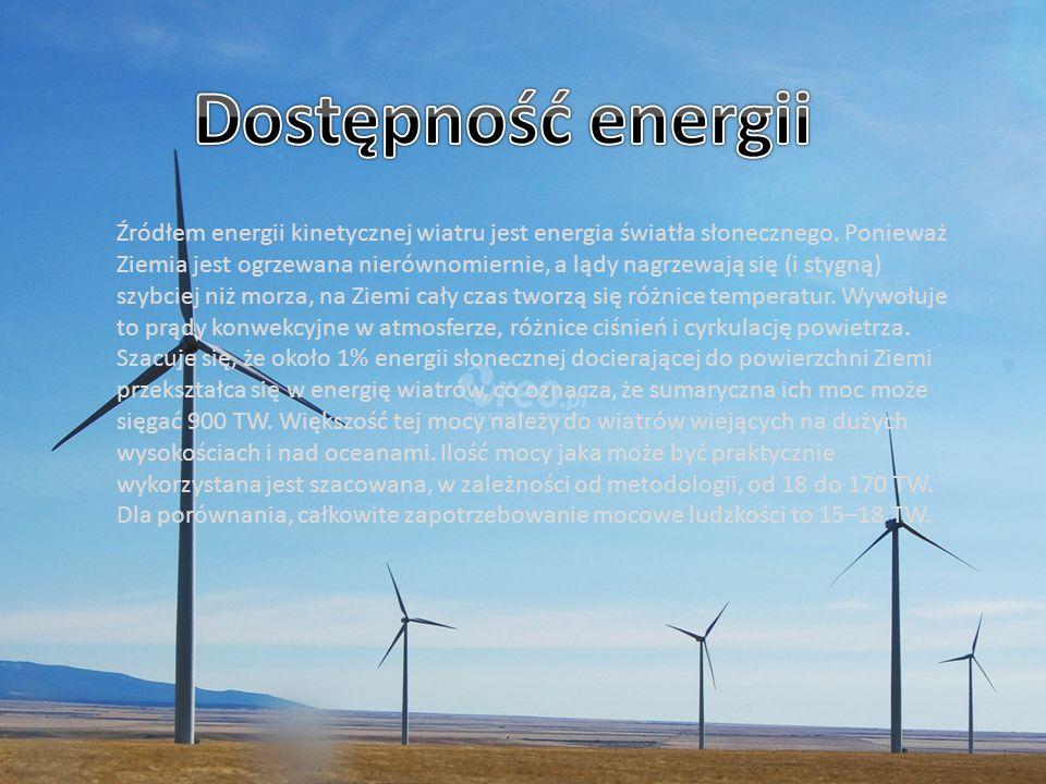 Źródłem energii kinetycznej wiatru jest energia światła słonecznego. Ponieważ Ziemia jest ogrzewana nierównomiernie, a lądy nagrzewają się (i stygną)