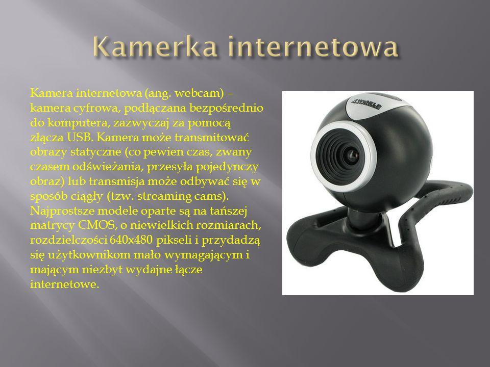 Kamera internetowa (ang. webcam) – kamera cyfrowa, podłączana bezpośrednio do komputera, zazwyczaj za pomocą złącza USB. Kamera może transmitować obra
