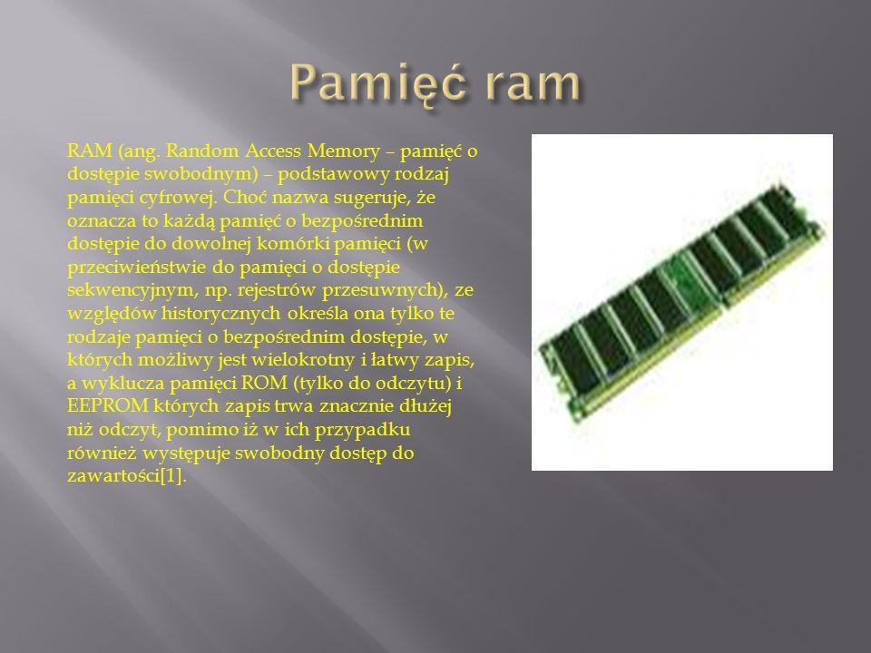 RAM (ang. Random Access Memory – pamięć o dostępie swobodnym) – podstawowy rodzaj pamięci cyfrowej. Choć nazwa sugeruje, że oznacza to każdą pamięć o