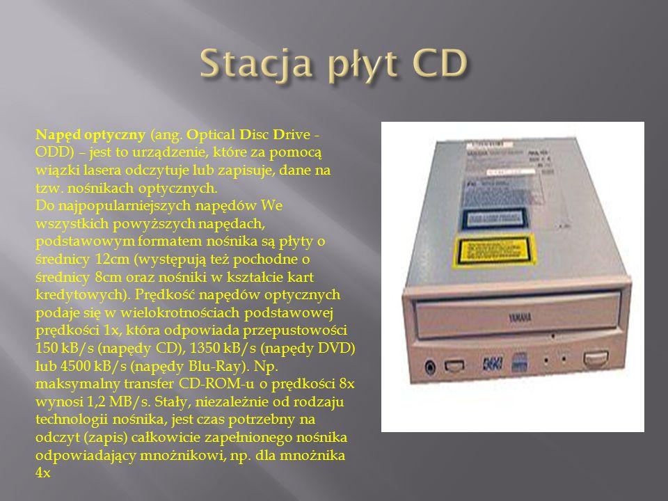 Napęd optyczny (ang. O ptical D isc D rive - ODD) – jest to urządzenie, które za pomocą wiązki lasera odczytuje lub zapisuje, dane na tzw. nośnikach o
