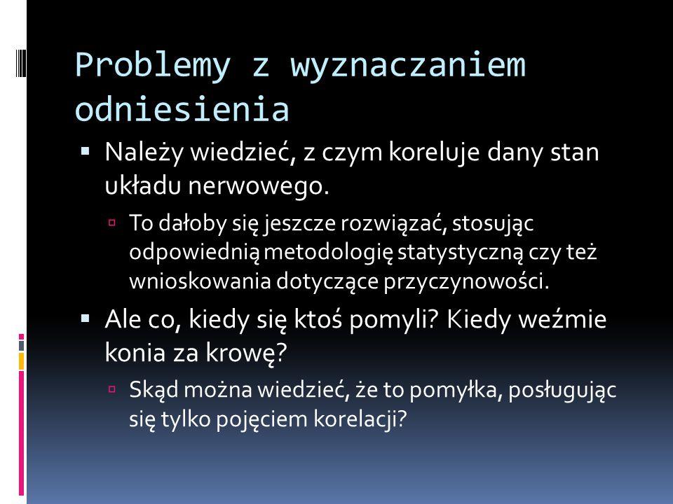 Problemy z wyznaczaniem odniesienia  Należy wiedzieć, z czym koreluje dany stan układu nerwowego.  To dałoby się jeszcze rozwiązać, stosując odpowie