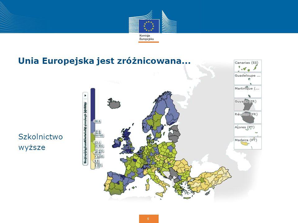 6 Do czego potrzebna jest unijna polityka spójności NajwyższyNajniższyStosunek PKB na mieszkańca (% średniej dla krajów UE-28) Luksemburg 266% Bułgaria 47% 5,7* Wskaźnik zatrudnienia (%; wiek: 20-64) Szwecja 79,8% Grecja 53,2% 1,5 * W Stanach Zjednoczonych stosunek ten wynosi jedynie 2,5, a w Japonii 2.