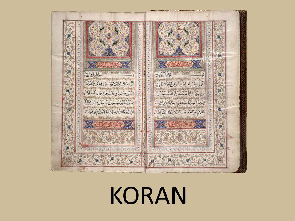 Niebawem naukę Mahometa spisano w świętej księdze islamu – KORANIE.