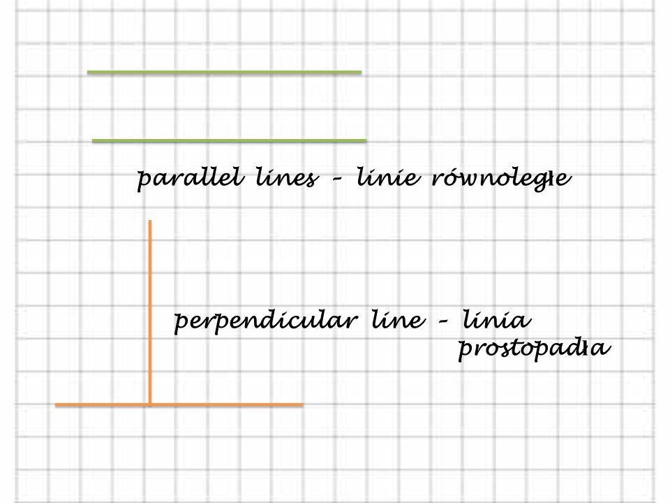 GEOMETRY – GEOMETRIA. a point - punkt streight line - linia prosta sector/segment - odcinek