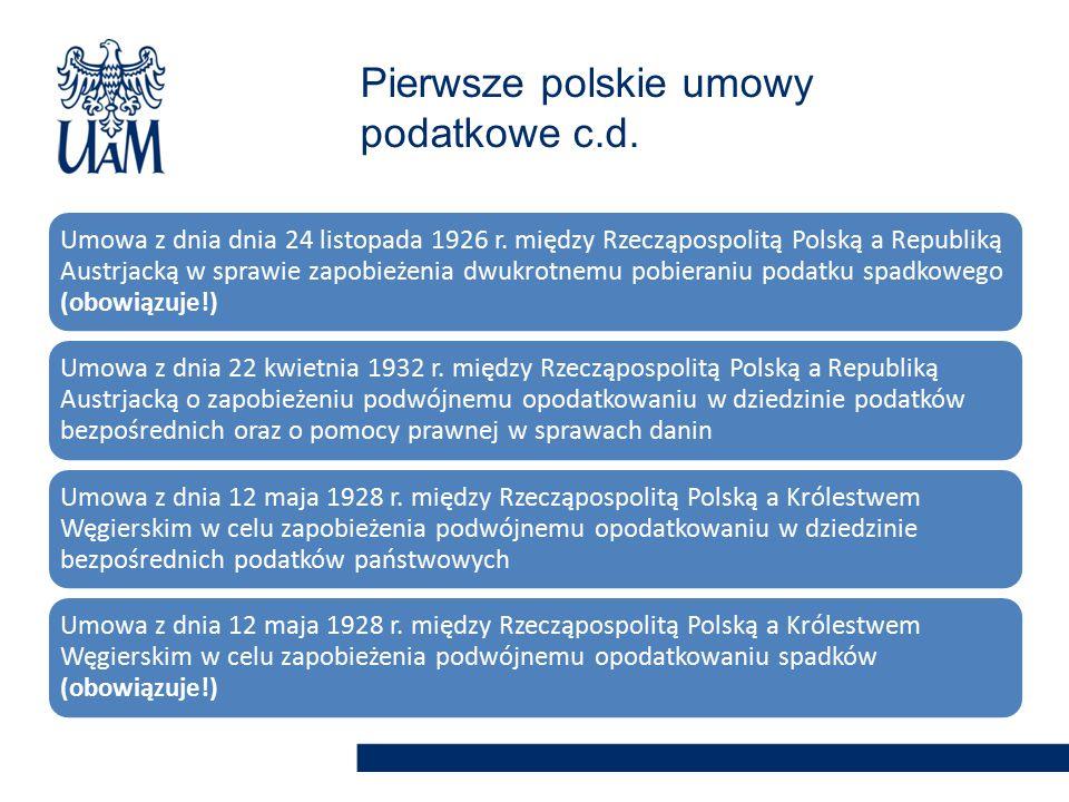 Umowa z dnia dnia 24 listopada 1926 r. między Rzecząpospolitą Polską a Republiką Austrjacką w sprawie zapobieżenia dwukrotnemu pobieraniu podatku spad