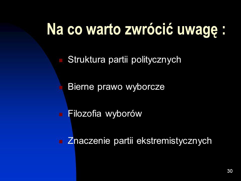 """29 Ciesielski K., """"Paradoksy ordynacji, czyli matematyka wyborcza , Wiedza i życia, nr 8/1997 (752), sierpień 1997 Jerzy Przystawa., """"Jednomandatowe okręgi wyborcze , WEKTORY, Wrocław 2003 Lazarowicz R."""