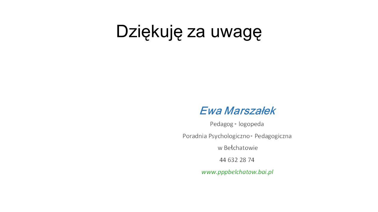 Dziękuję za uwagę Ewa Marszałek