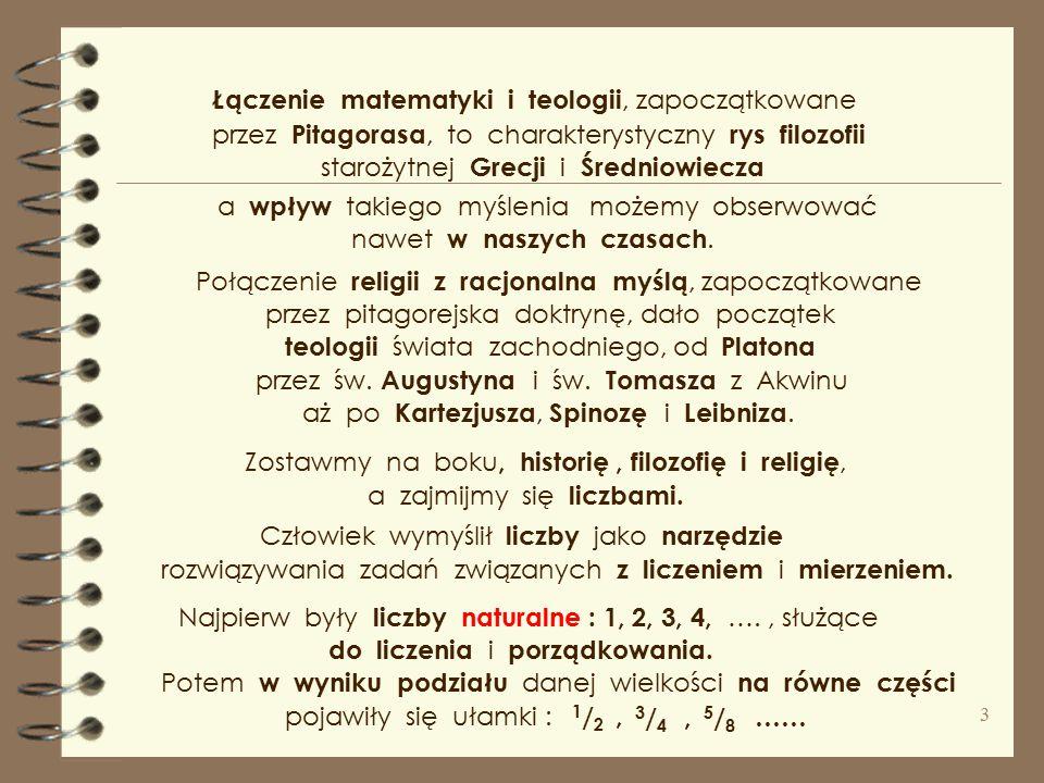 Liczba - Polskie Towarzystwo Tomasza z Akwinu Liczba – jedno z podstawowych pojęć ludzkiego poznania oraz religia ( symbolika religijna ). jak matemat
