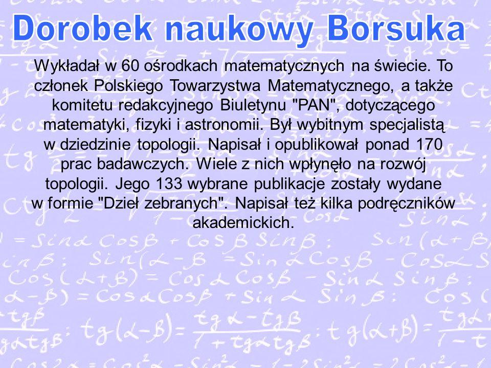 Wykładał w 60 ośrodkach matematycznych na świecie.