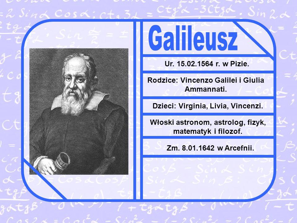 Ur.15.02.1564 r. w Pizie. Rodzice: Vincenzo Galilei i Giulia Ammannati.