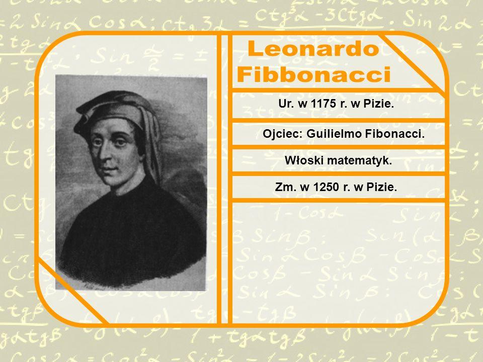 Ur. w 1175 r. w Pizie. Ojciec: Guilielmo Fibonacci. Włoski matematyk. Zm. w 1250 r. w Pizie.