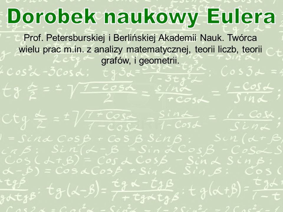 Prof.Petersburskiej i Berlinskiej Akademii Nauk.