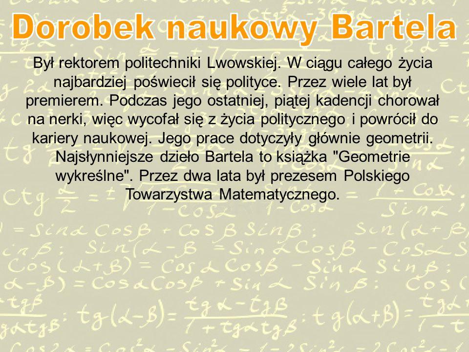 Był rektorem politechniki Lwowskiej.W ciągu całego życia najbardziej poświecił się polityce.