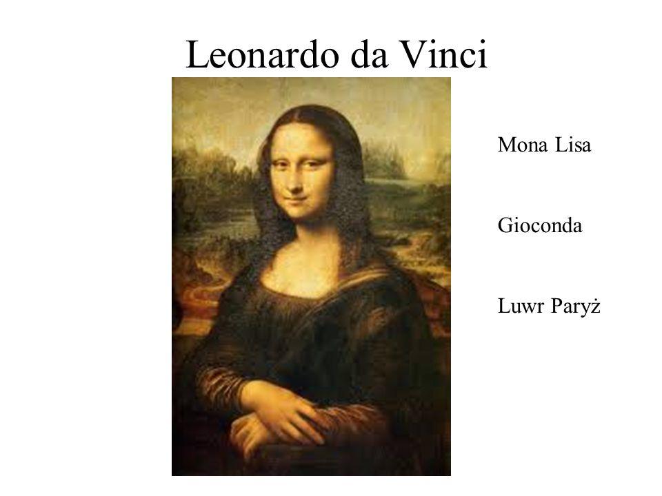 Leonardo da Vinci Mona Lisa Gioconda Luwr Paryż