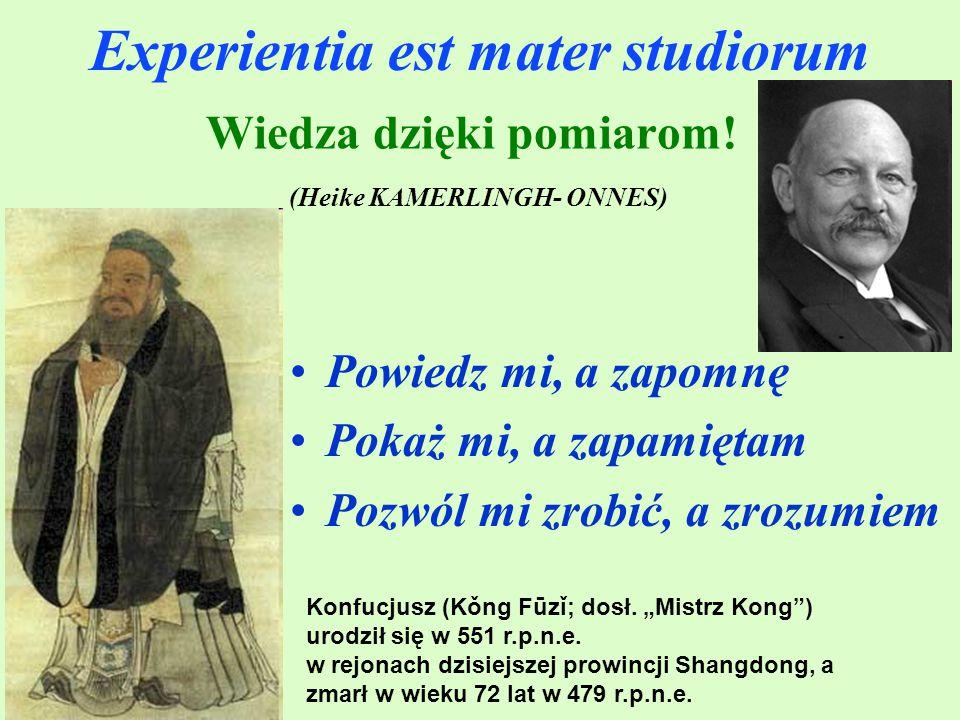 Experientia est mater studiorum Konfucjusz (Kǒng Fūzǐ; dosł.
