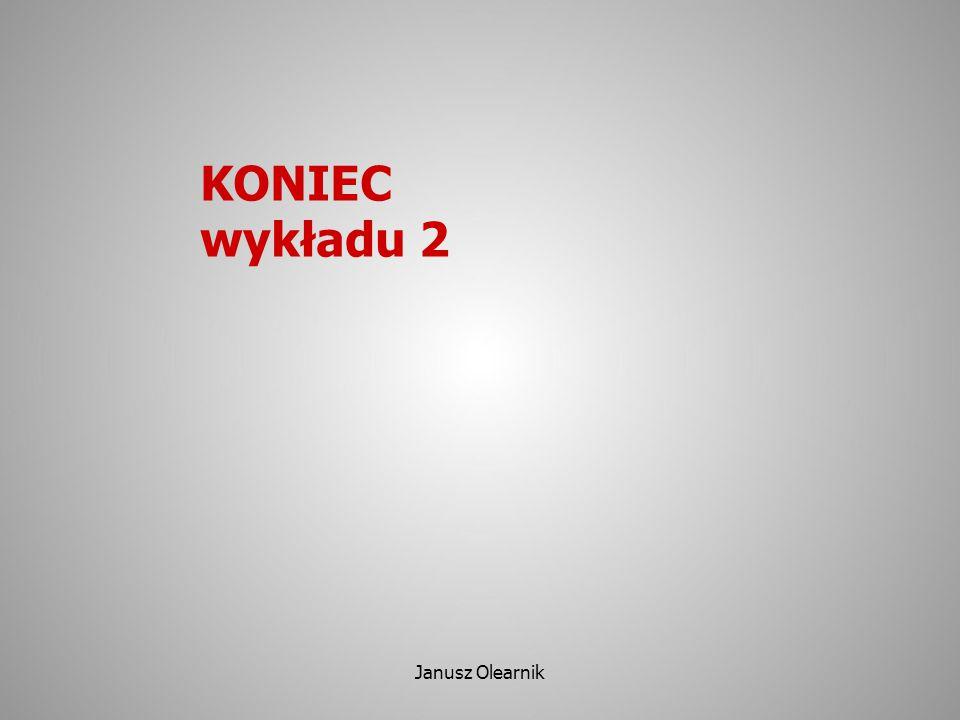 KONIEC wykładu 2 Janusz Olearnik