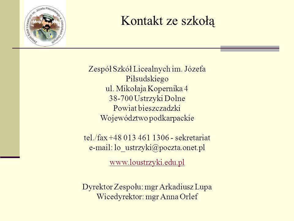 Zespół Szkół Licealnych im. Józefa Piłsudskiego ul.
