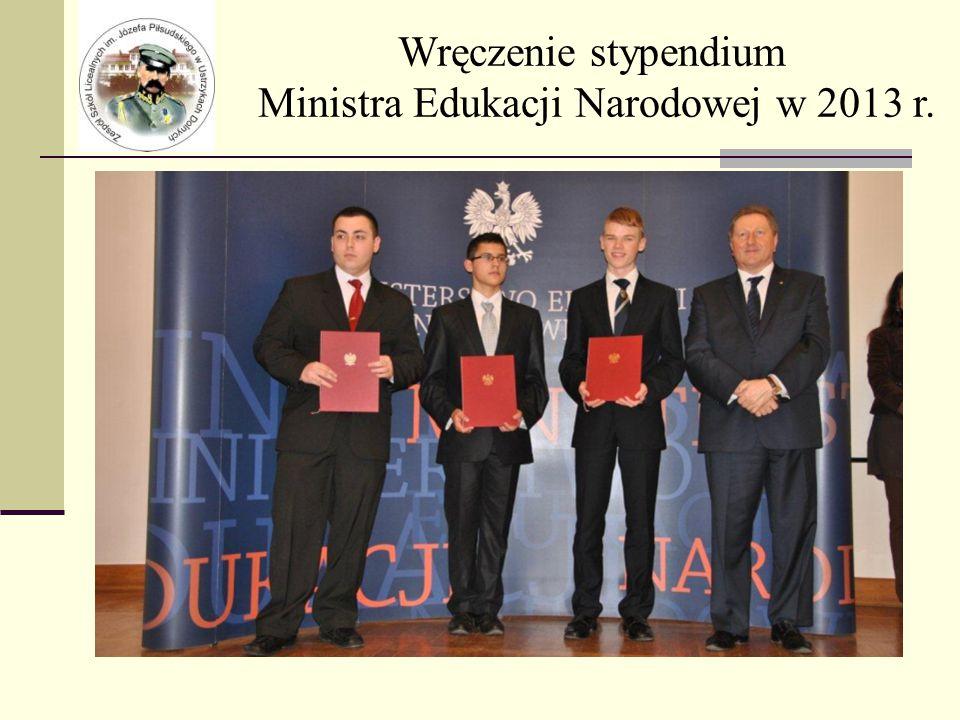 Wręczenie stypendium Ministra Edukacji Narodowej w 2013 r.