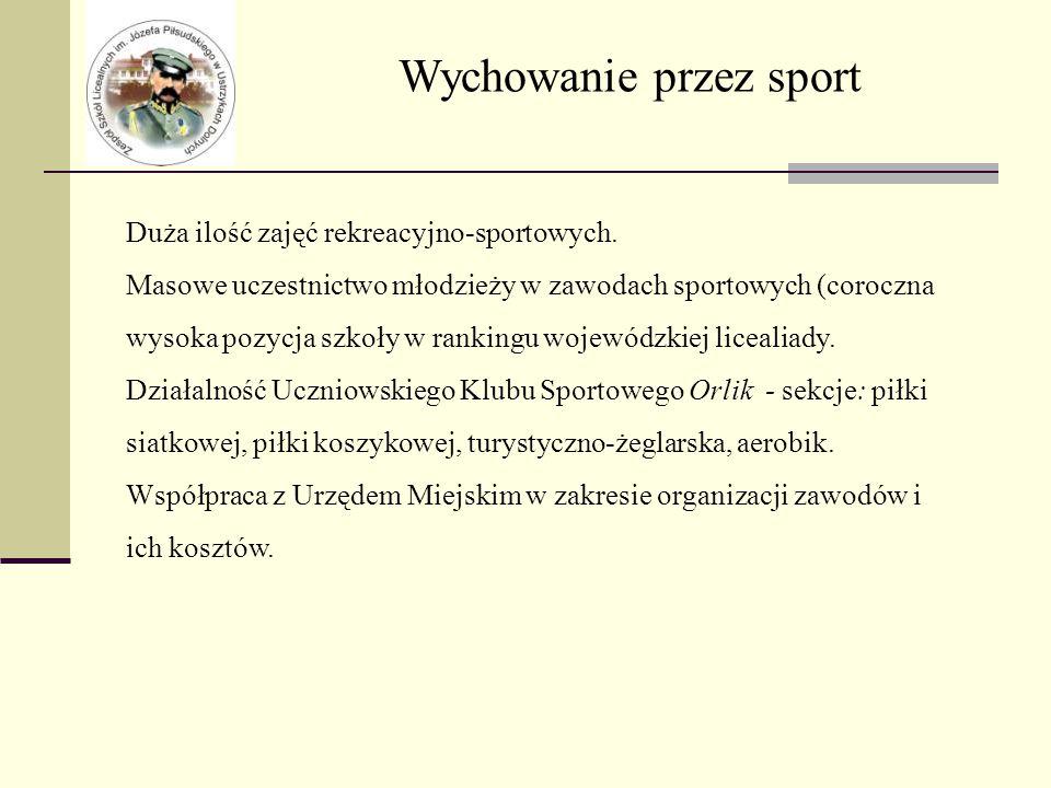 Wychowanie przez sport Duża ilość zajęć rekreacyjno-sportowych.