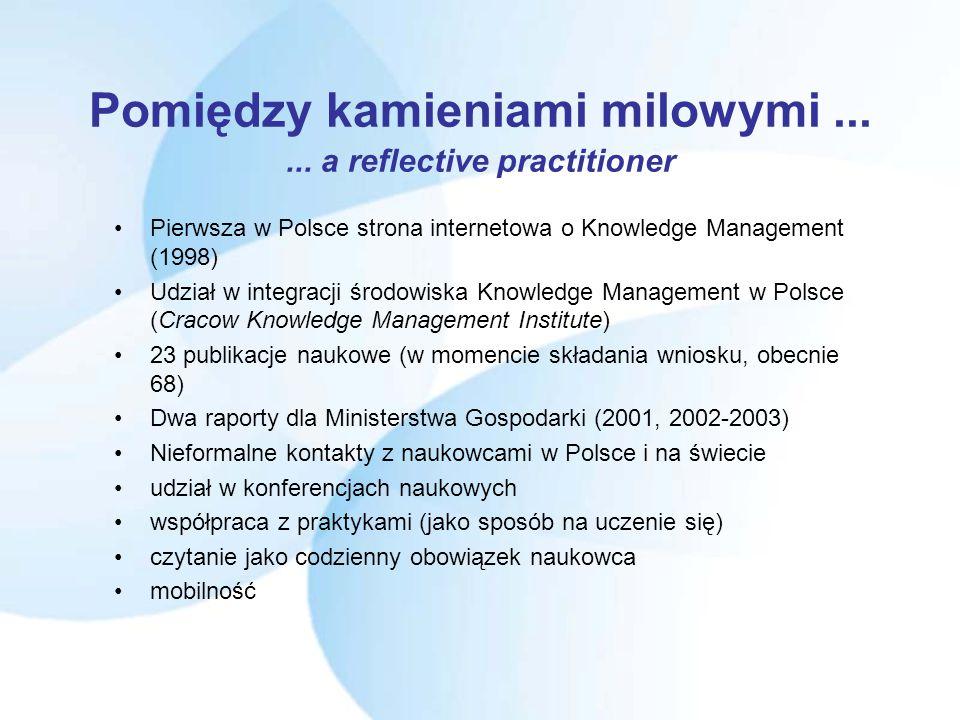 Milestones (2) 20 sierpień 2001 - 10 (!!) września 2001 - praca nad opracowaniem wniosku Marie Curie Fellowship grudzień 2001 - Welcome on board! (doz