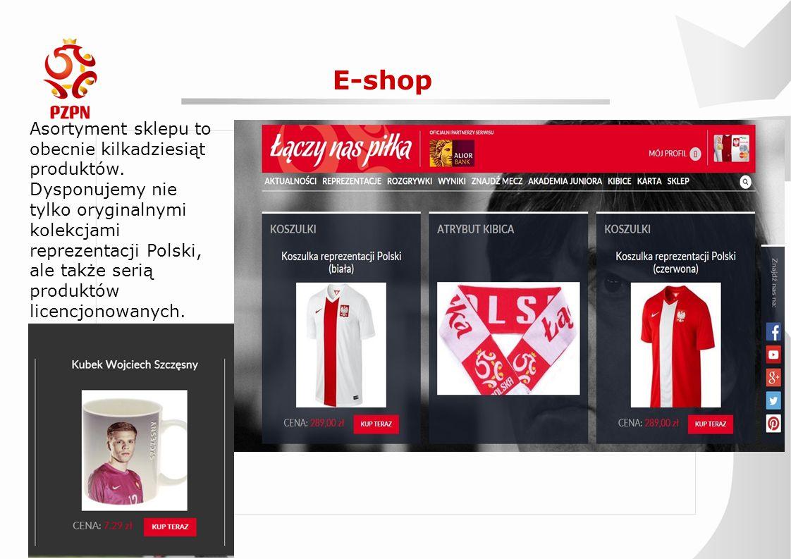 E-shop Asortyment sklepu to obecnie kilkadziesiąt produktów. Dysponujemy nie tylko oryginalnymi kolekcjami reprezentacji Polski, ale także serią produ
