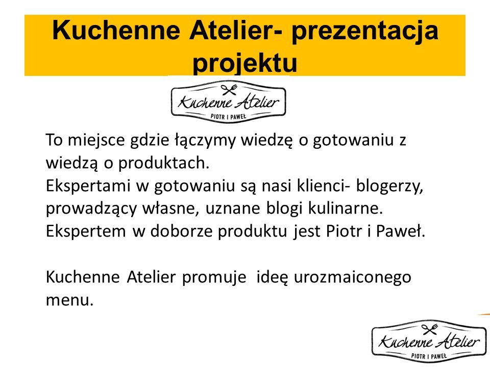 Kuchenne Atelier- prezentacja projektu To miejsce gdzie łączymy wiedzę o gotowaniu z wiedzą o produktach. Ekspertami w gotowaniu są nasi klienci- blog