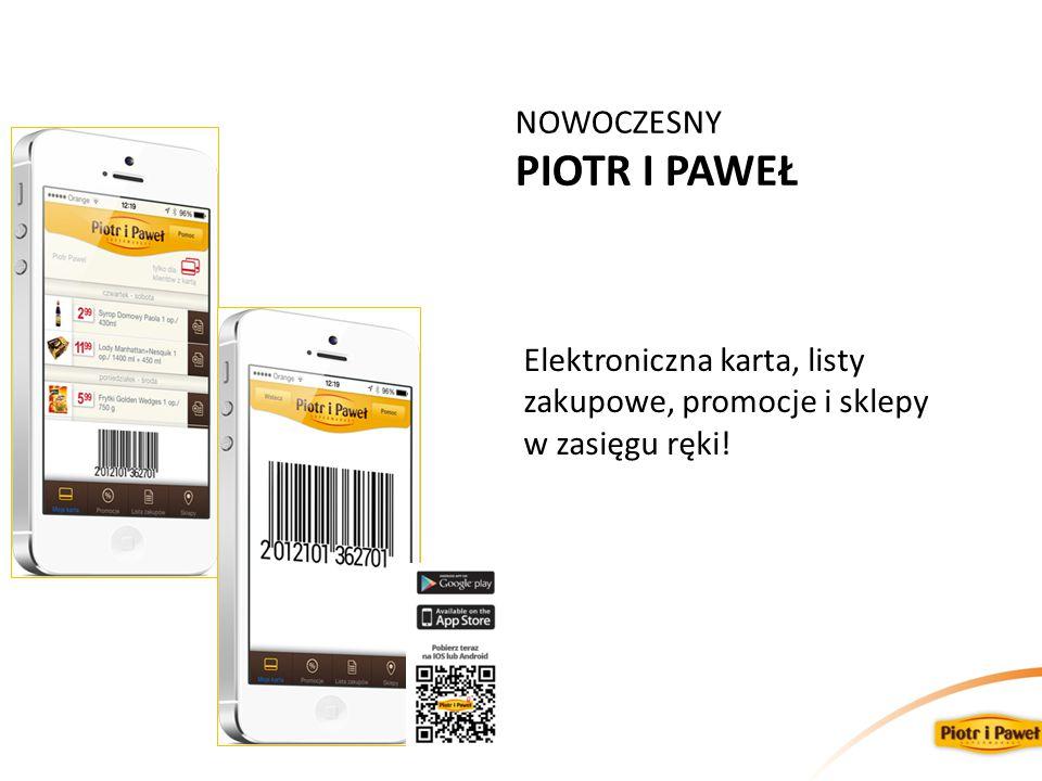 NOWOCZESNY PIOTR I PAWEŁ Elektroniczna karta, listy zakupowe, promocje i sklepy w zasięgu ręki!