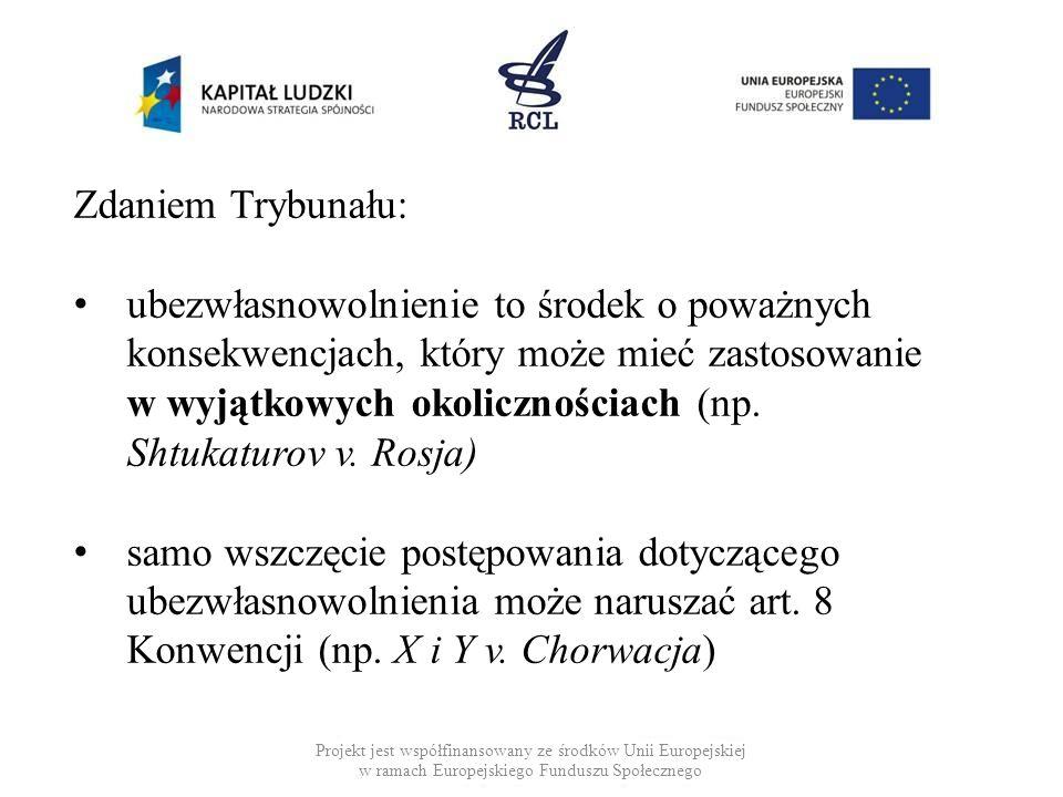 Projekt jest współfinansowany ze środków Unii Europejskiej w ramach Europejskiego Funduszu Społecznego Zdaniem Trybunału: ubezwłasnowolnienie to środe