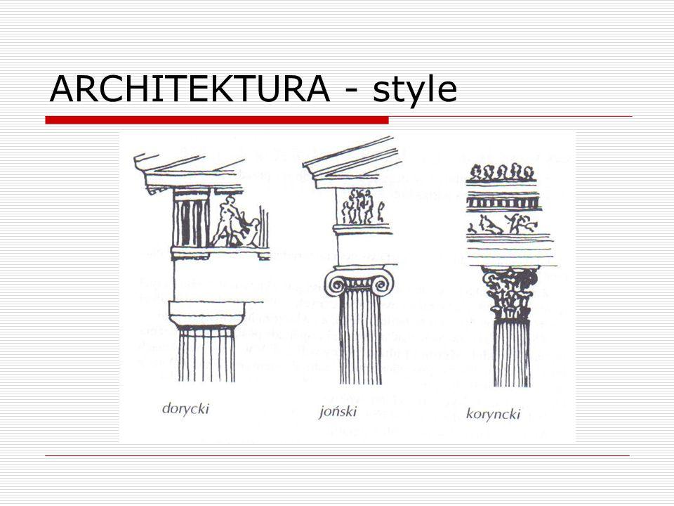 ARCHITEKTURA - style