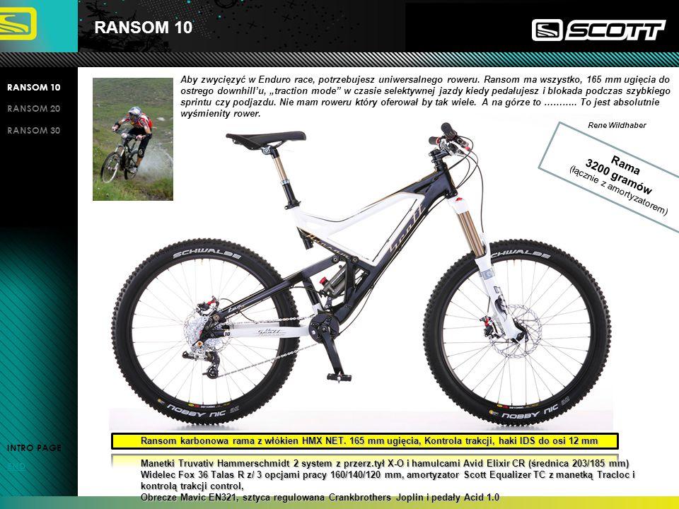 RANSOM 10 RANSOM 20 RANSOM 30 INTRO PAGE END Aby zwycięzyć w Enduro race, potrzebujesz uniwersalnego roweru.