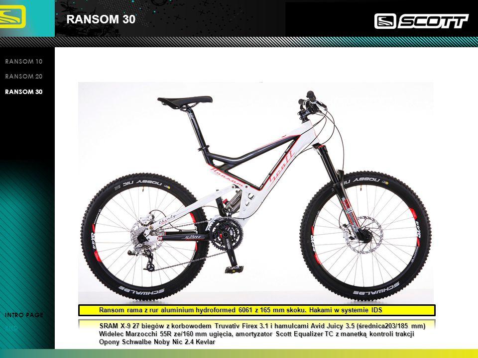 RANSOM 30 RANSOM 10 RANSOM 20 RANSOM 30 INTRO PAGE END Ransom rama z rur aluminium hydroformed 6061 z 165 mm skoku.
