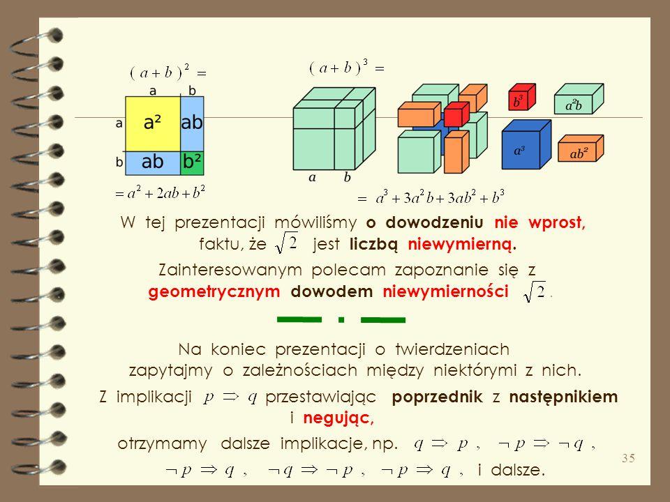 ** Niestety, tak wygląda rzeczywista nauka matematyki, która z matematyką nie ma nic wspólnego. Gdy na koniec wspomnę, że są dowody geometryczne, niko