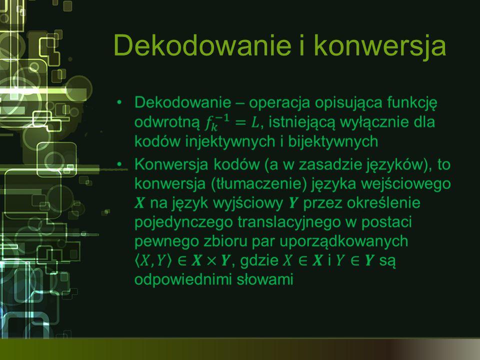 Dekodowanie i konwersja