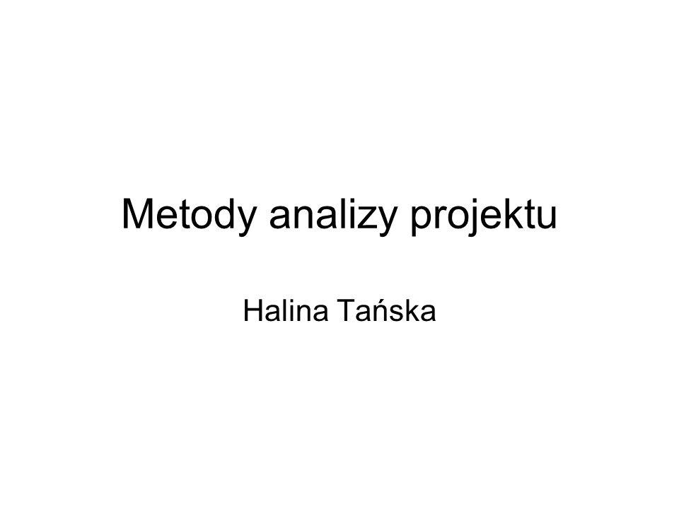 Metody analizy projektu Halina Tańska