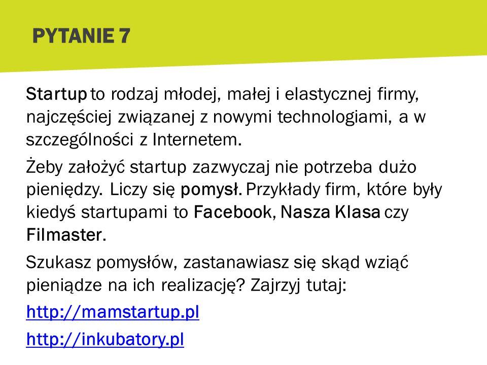 Co to jest startup. [czyt.