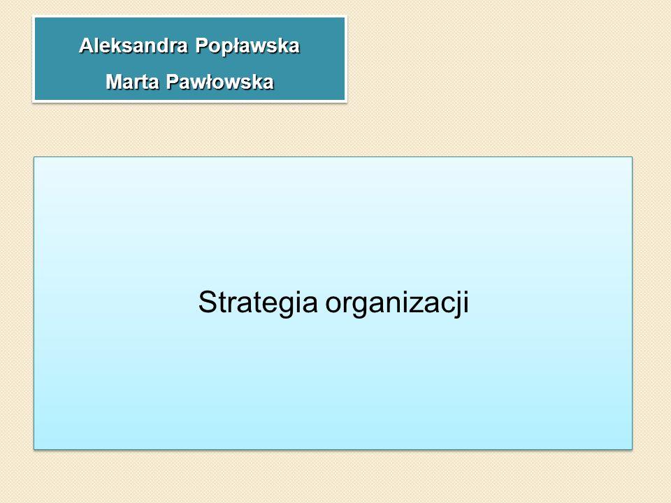Aleksandra Popławska Marta Pawłowska Strategia organizacji