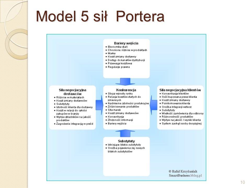 10 Model 5 sił Portera