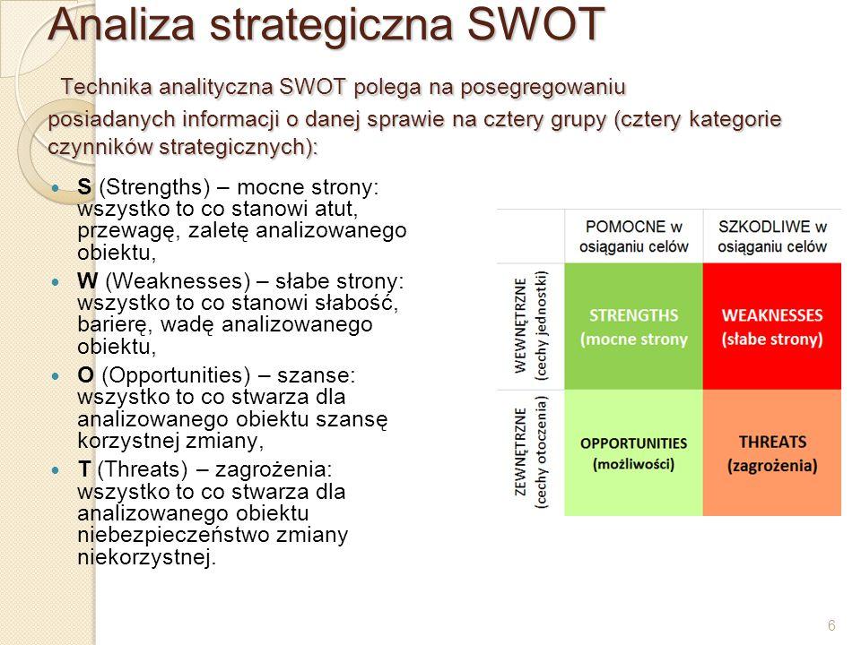 17 Benchmarking - Jest to metoda polegająca na wyborze wzorcowego konkurenta, porównywania z nim własnej organizacji i dostosowania jego podejścia do warunków działania firmy.