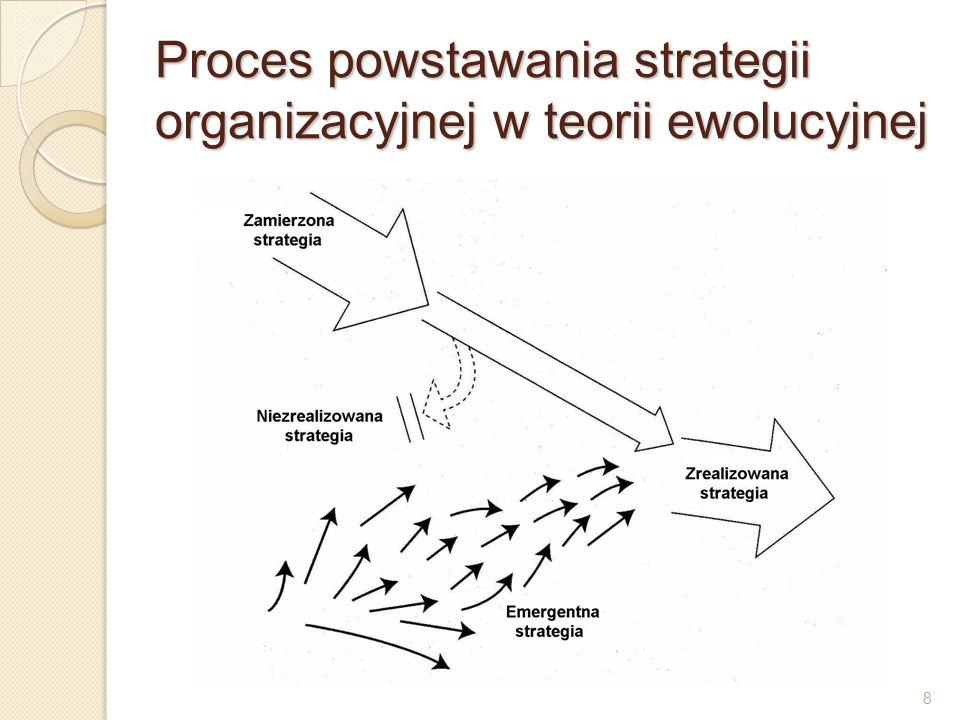 9 Strategia jako pozycja konkurencyjna punktem wyjścia do budowy i analizy strategii jest otoczenie organizacji; strategie należy formułować zawsze pod kątem konkurencji; istnieją dwie bazowe strategie do budowania przewagi konkurencyjnej na rynku: minimalizacja kosztów i zróżnicowanie oferty produktów lub usług; przewaga kosztowa jest najbardziej fundamentalną przewagą konkurencją; strategia zróżnicowania wyrobów w większym stopniu niż strategia przewagi kosztowej ogranicza swobodę konkurencyjną organizacji, ale utrudnia atak konkurencji;