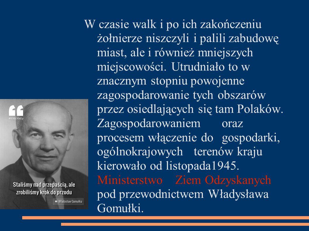 Dzięki niezwykłej ofiarności oraz zaangażowaniu polskiego społeczeństwa szybko przystąpiono do odbudowy zniszczonego kraju.