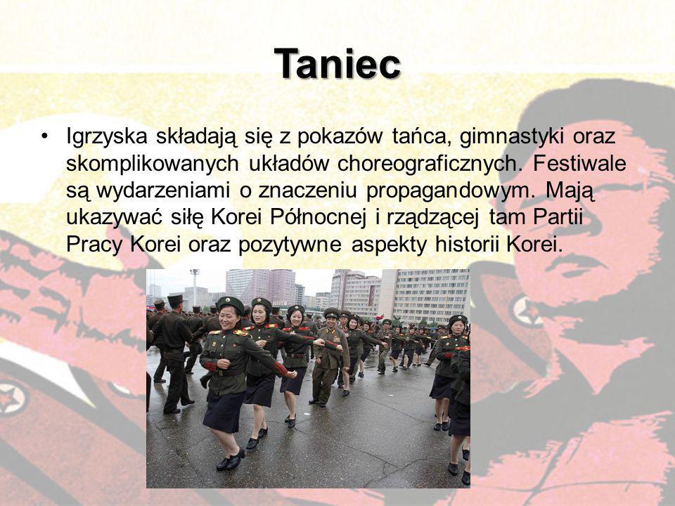 Taniec Igrzyska składają się z pokazów tańca, gimnastyki oraz skomplikowanych układów choreograficznych. Festiwale są wydarzeniami o znaczeniu propaga