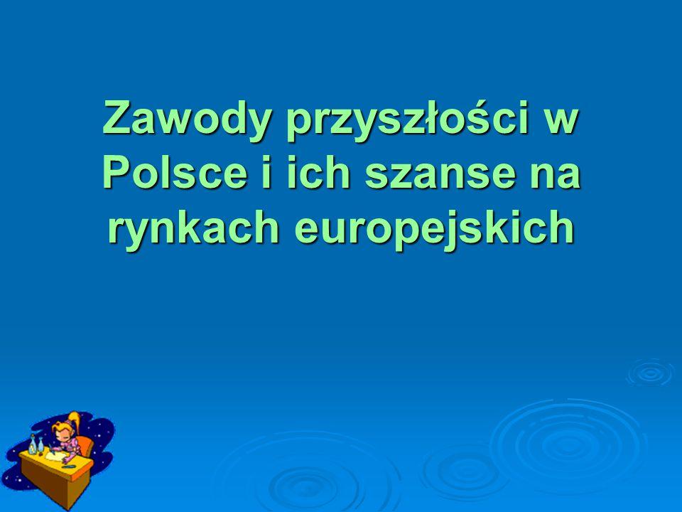 Jeszcze kilkanaście lat temu nie było w Polsce obecnie znanych i popularnych zawodów.