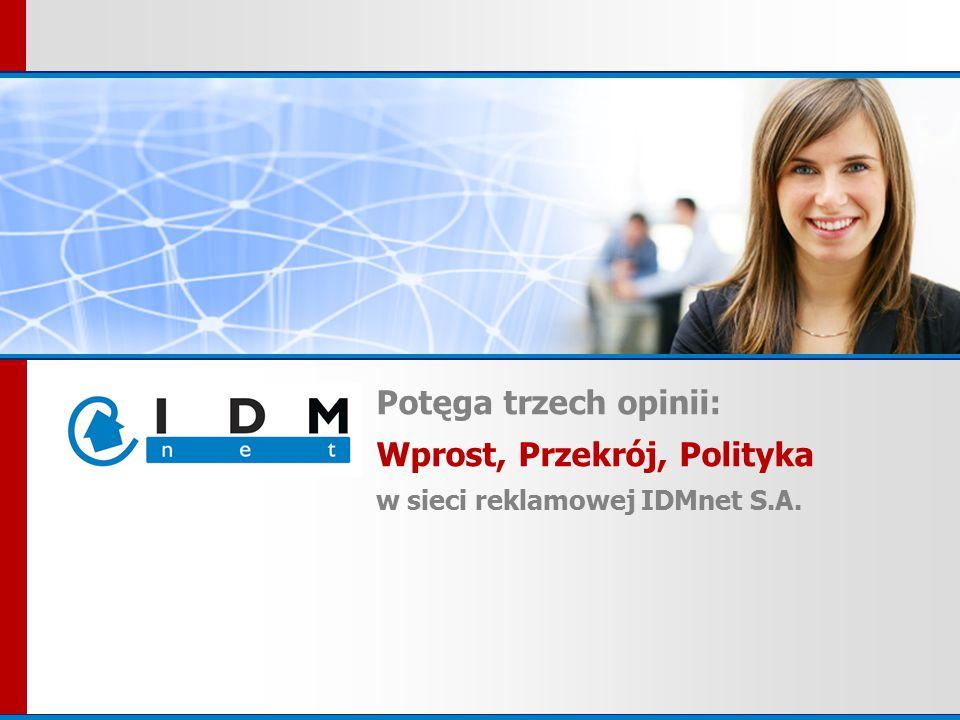 Potęga trzech opinii: Wprost, Przekrój, Polityka w sieci reklamowej IDMnet S.A.