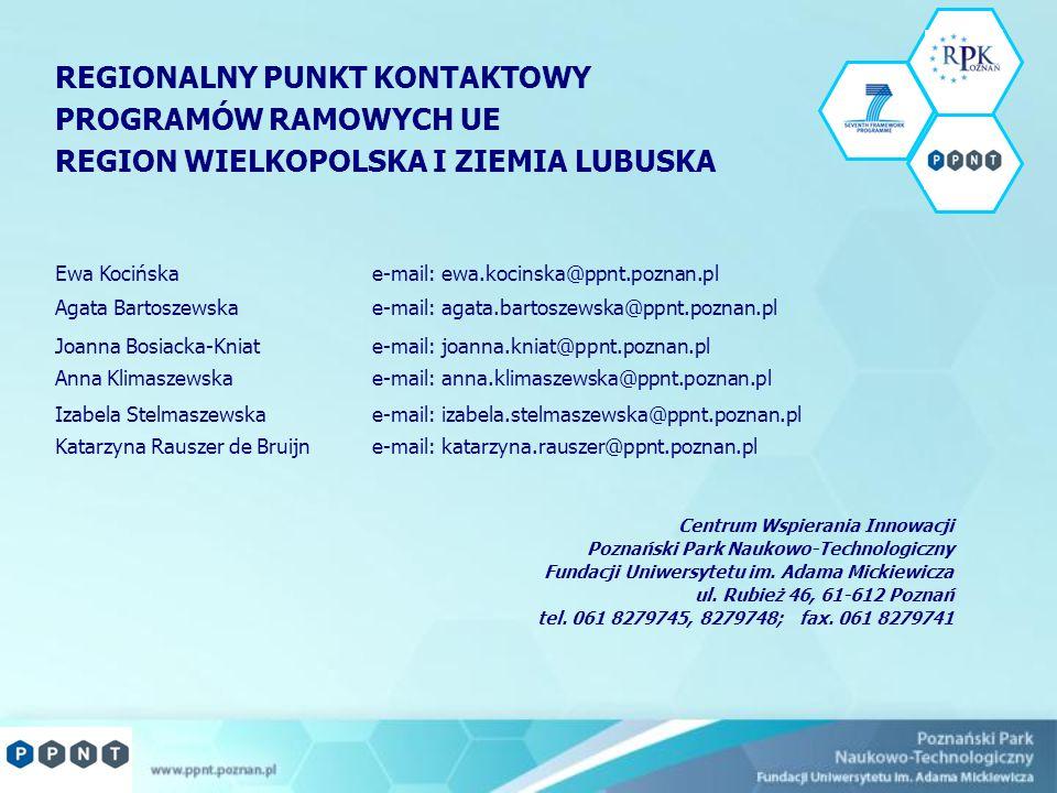 Centrum Wspierania Innowacji Poznański Park Naukowo-Technologiczny Fundacji Uniwersytetu im. Adama Mickiewicza ul. Rubież 46, 61-612 Poznań tel. 061 8