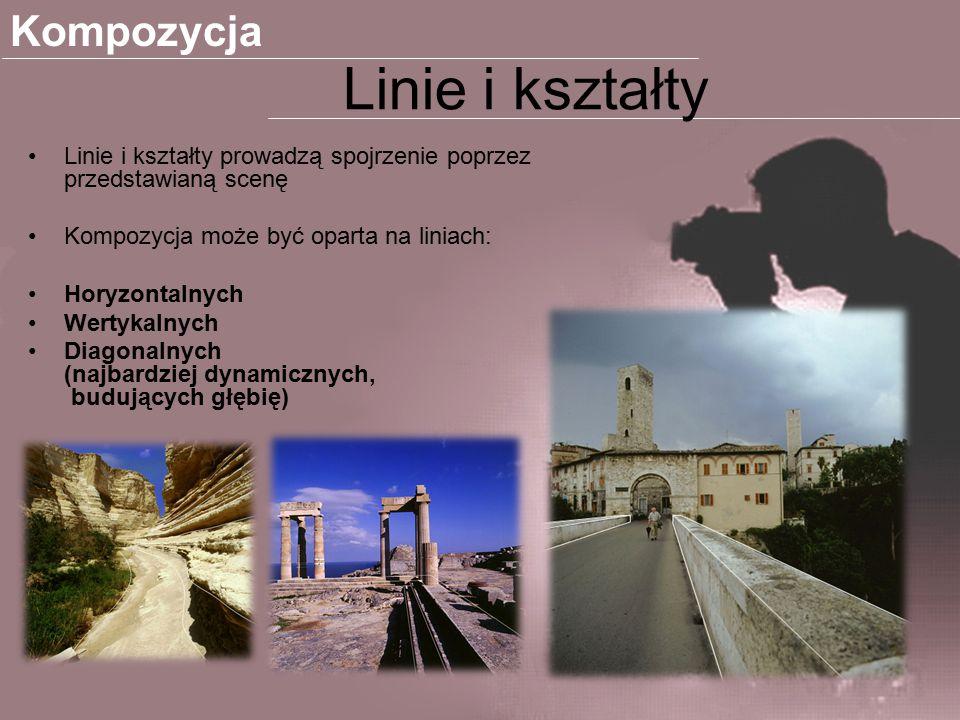 Linia horyzontalne - najbardziej statyczne, niosące spokój - wprowadzają rytm.