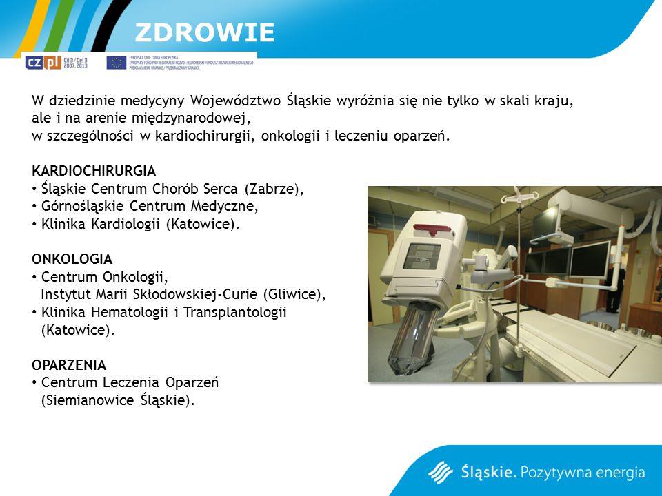 ZDROWIE W dziedzinie medycyny Województwo Śląskie wyróżnia się nie tylko w skali kraju, ale i na arenie międzynarodowej, w szczególności w kardiochiru