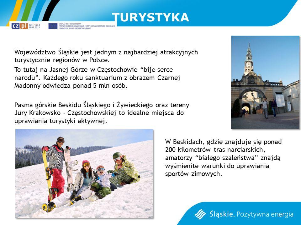 """TURYSTYKA Województwo Śląskie jest jednym z najbardziej atrakcyjnych turystycznie regionów w Polsce. To tutaj na Jasnej Górze w Częstochowie """"bije ser"""