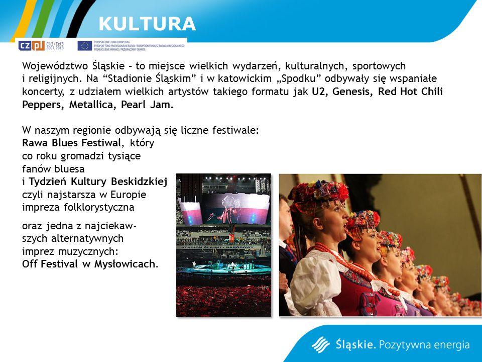 """Województwo Śląskie – to miejsce wielkich wydarzeń, kulturalnych, sportowych i religijnych. Na """"Stadionie Śląskim"""" i w katowickim """"Spodku"""" odbywały si"""