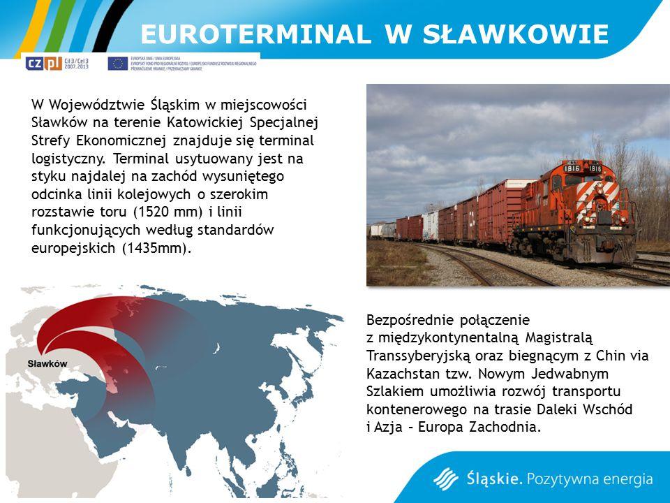 EUROTERMINAL W SŁAWKOWIE W Województwie Śląskim w miejscowości Sławków na terenie Katowickiej Specjalnej Strefy Ekonomicznej znajduje się terminal log