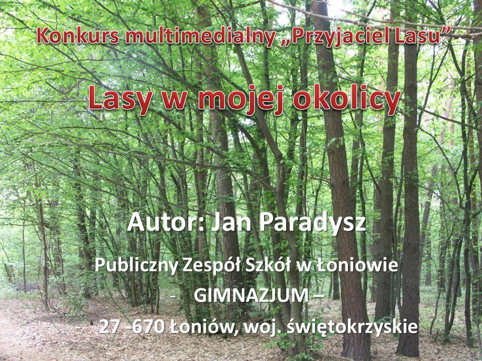 Autor: Jan Paradysz Publiczny Zespół Szkół w Łoniowie -GIMNAZJUM – -27 -670 Łoniów, woj. świętokrzyskie